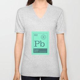 Periodic Elements - 82 Lead (Pb) Unisex V-Neck