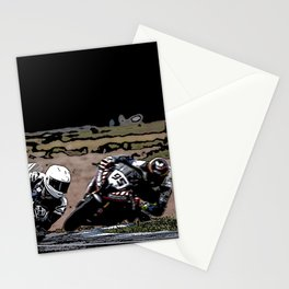 Art of motorbike racing Stationery Cards