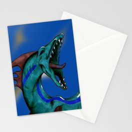 Serpent Sea Monster Stationery Cards
