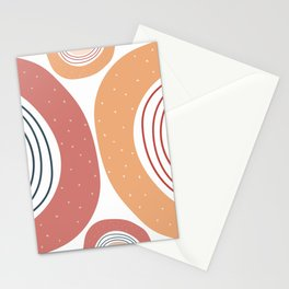 Burnt rainbow pattern Stationery Cards