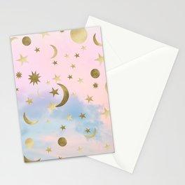 Pastel Starry Sky Moon Dream #1 #decor #art #society6 Stationery Cards