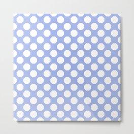 Baby Blue Octagon Pattern  Metal Print