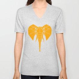 Yellow Elephant Unisex V-Neck