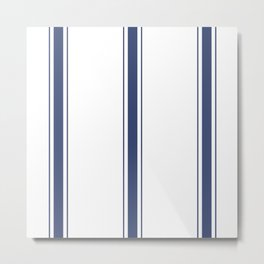 Blue Stripes Metal Print