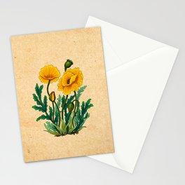 Minhwa: Poppy: Yellow Deep A Type Stationery Cards