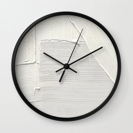 Relief [2]: an abstract, textured piece in white by Alyssa Hamilton Art Wall Clock