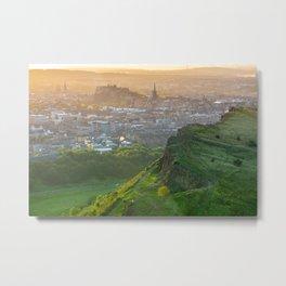 Edinburgh Castle On A Summer Evening Metal Print