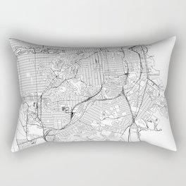 San Francisco White Map Rectangular Pillow