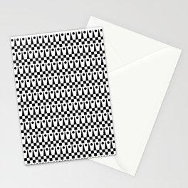 Geometrics Pattern No.2 Black and White Stationery Cards