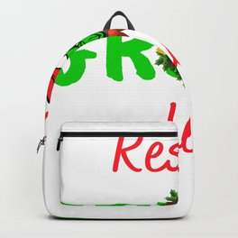the grinch resting grinch face christmas gift Backpack