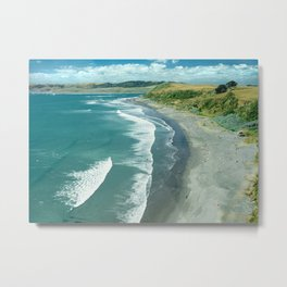 Raglan beach, New Zealand Metal Print