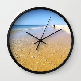 Perfect Summer Beach | Tavira, Portugal Wall Clock