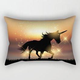 Unicorn Sunset Rectangular Pillow