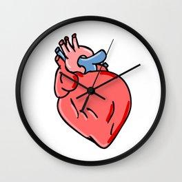 Human Heart Cartoon Wall Clock
