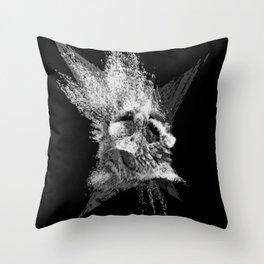 Skull Blast Throw Pillow