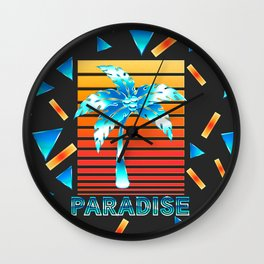 Summer Paradise Wall Clock