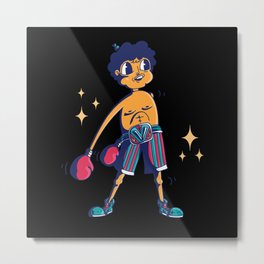 Boxer  floss funny cartoon boxer doing floss dance Metal Print