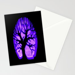 Happy HaLLoWeen. Brain Tree : Purple Stationery Cards