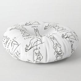Inhale Exhale Llama Floor Pillow