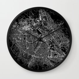 San Jose Black Map Wall Clock
