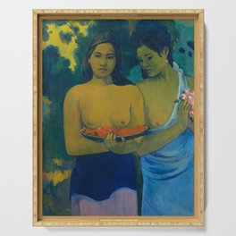 "Paul Gauguin ""Deux Tahitiennes (Two Tahitian women)"" Serving Tray"