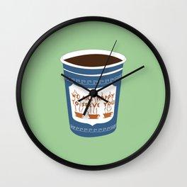 NY Coffee Wall Clock