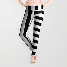 VINTAGE STRIPES (BLACK-WHITE) Leggings