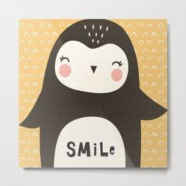 Penguin Smiles Metal Print
