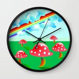"""Rainbow Homage"" Wall Clock"