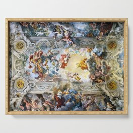 Allegory of Divine Providence and Barberini Power by Pietro Cortona (1639) Serving Tray