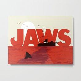 Jaws minimalist art print Metal Print