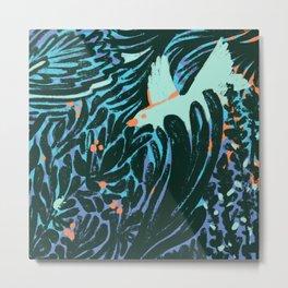 Bird in the Bush Metal Print