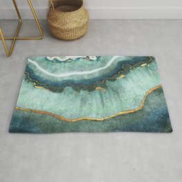 Gold Turquoise Agate Rug
