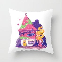 Rapunzel's Hair Salon Throw Pillow