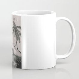 Electric Car Vintage Advert Black and White Coffee Mug