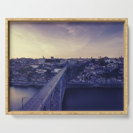 Porto across the bridge. Serving Tray