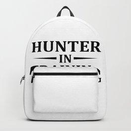 Hunter In Training, Gamer Gift, Video Game, Gaming MMORPG Backpack
