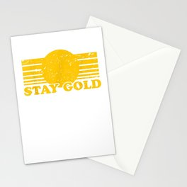 Stay Gold Ponyboy Outsiders Book Movie Novel Stationery Cards