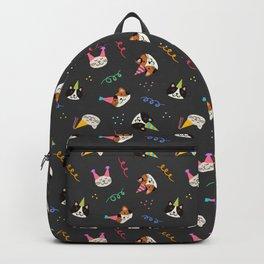 Cat Purr-tay! // Dark Gray Backpack