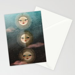 Moon Phase Stationery Cards