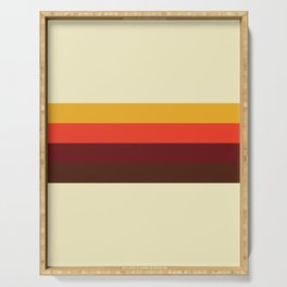 retro color palette 60s Serving Tray