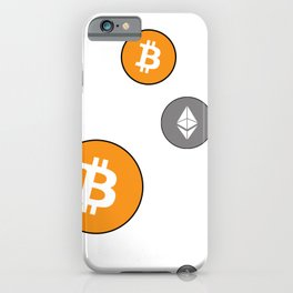 Ethereum and Bitcoin Pattern iPhone Case
