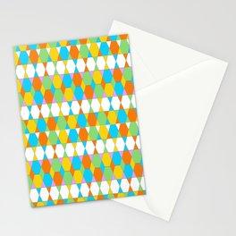 Octagons - Orange and Aqua Stationery Cards
