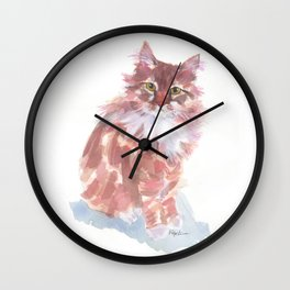 Ginger Peach Wall Clock