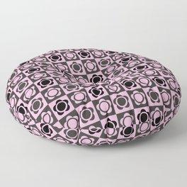 RETRO FLOWER - PINK AND BLACK Floor Pillow