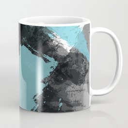 Black and Blue Paint Splash Coffee Mug