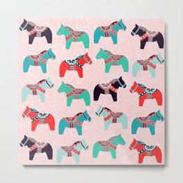 Cute Dala Horses Metal Print