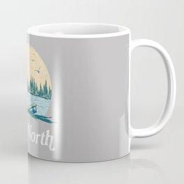 Vintage Retro Up North Lake Coffee Mug