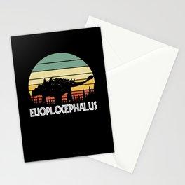 euoplocephalus. Gift for dinosaur lover Stationery Cards