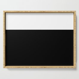 Color Block-Black and White Serving Tray